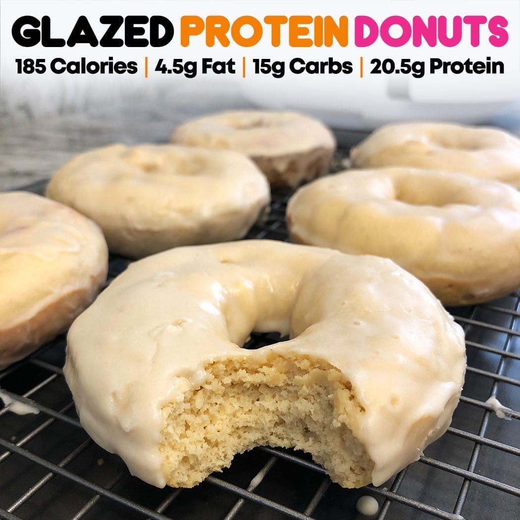 Some recipes take 100 tries and never turn out the way you want. Others take one try and come out delicious. Lucky for you, this one falls in the latter. If you are a donut snob and only love light, flaky, airy fried donuts, then this recipe isn't for you. High-protein donuts are a bit dens ... #proteindonuts