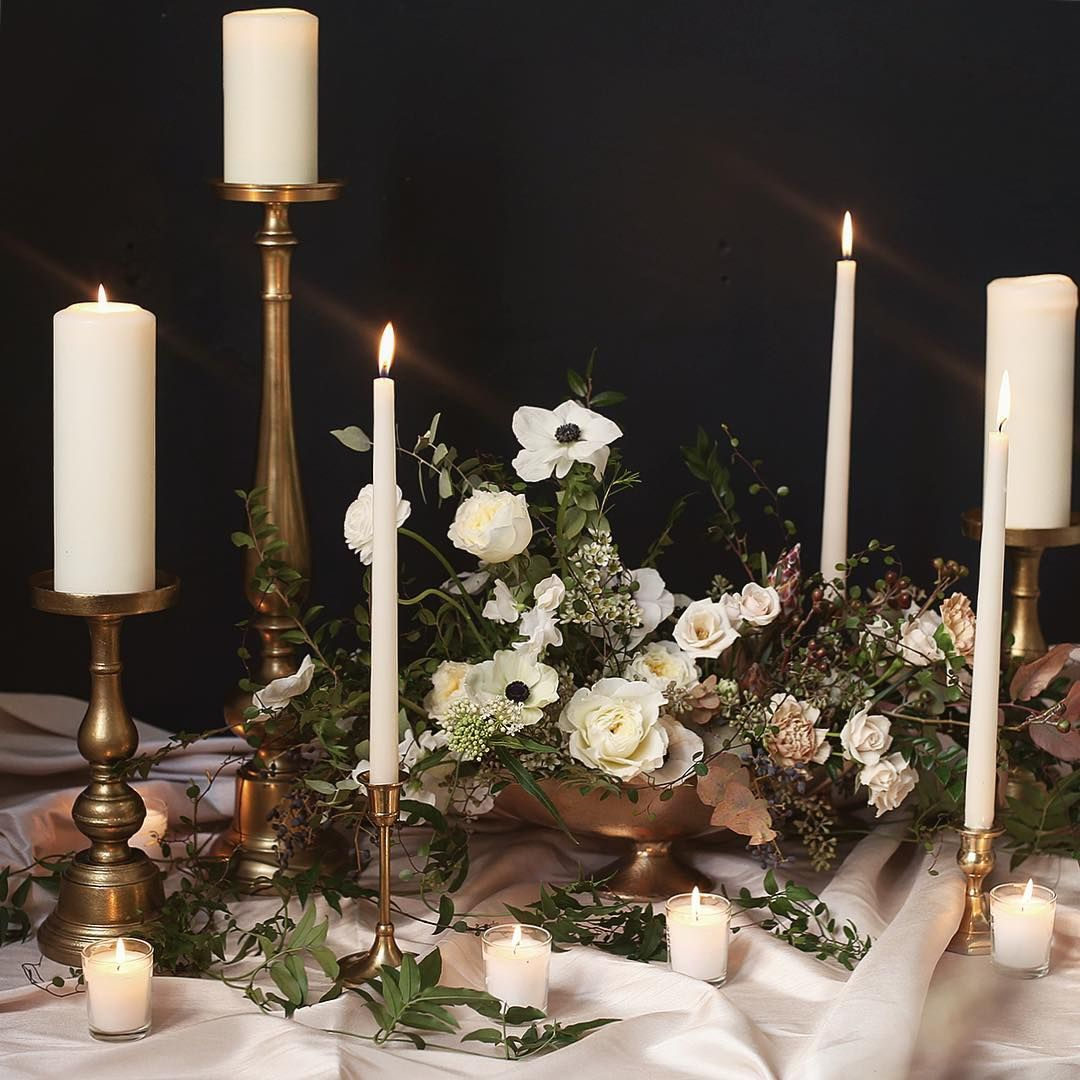 pinterest wedding table decorations candles%0A Mockup for our last wedding of Perfect start to winter whites