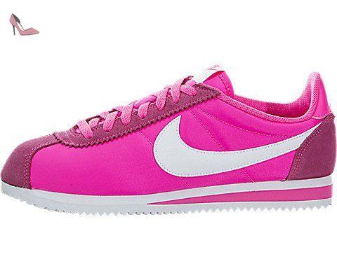 Nike Wmns Classic Cortez Nylon, Chaussures de Sport Femme, Rose-Rosa (Pink