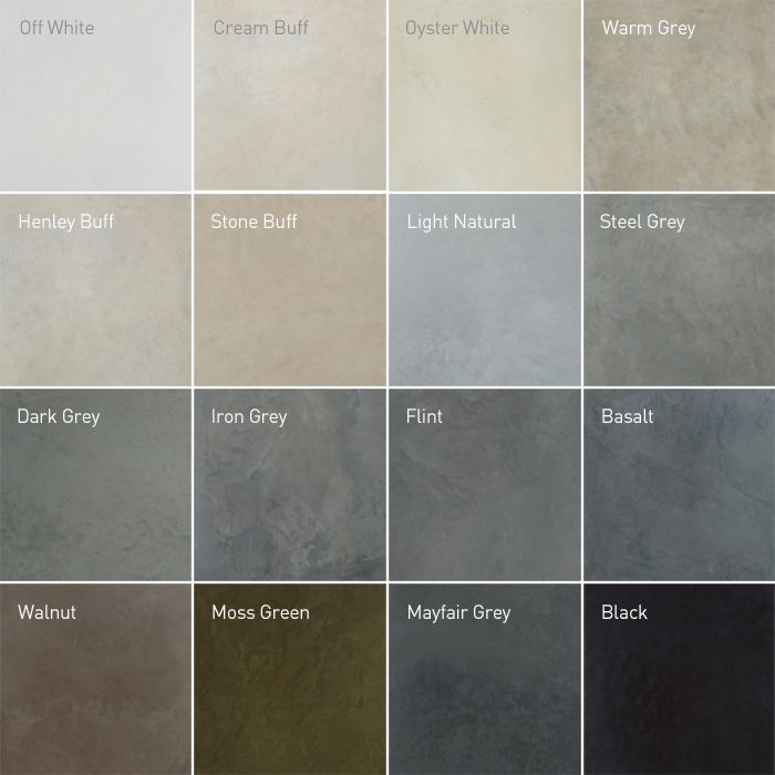Recommended polished concrete colours concrete floor for Cement paint colors for floors