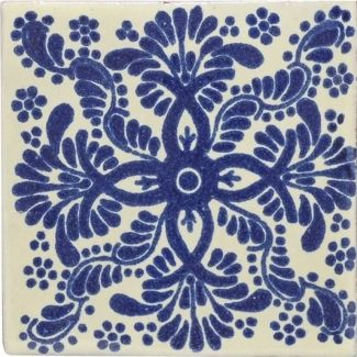 This Beautiful Patterned Decorative Traditional Talavera Tile Is A Hand Made And Painted Rustic Carefully Created By Craftsman Families In Mexico