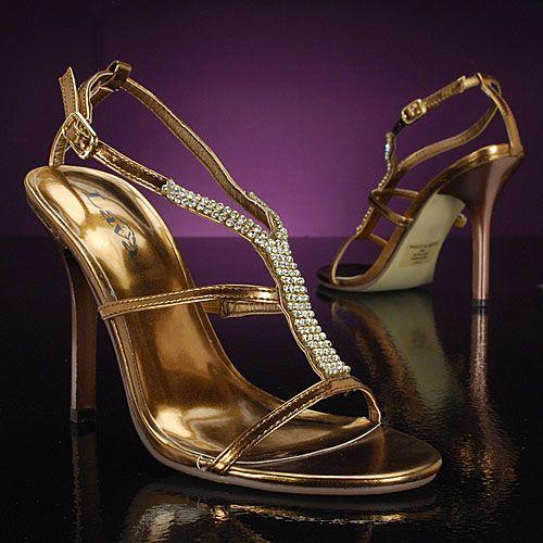 high heel bronze wedding prom shoes