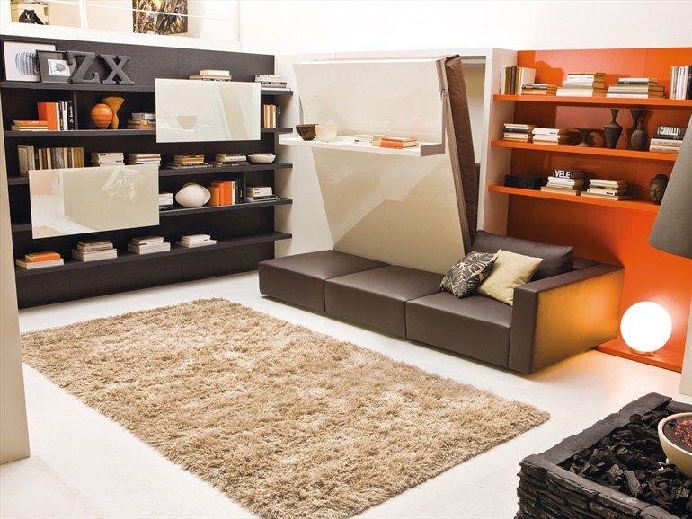 Parete attrezzata con letto a scomparsa SWING by CLEI | design ...