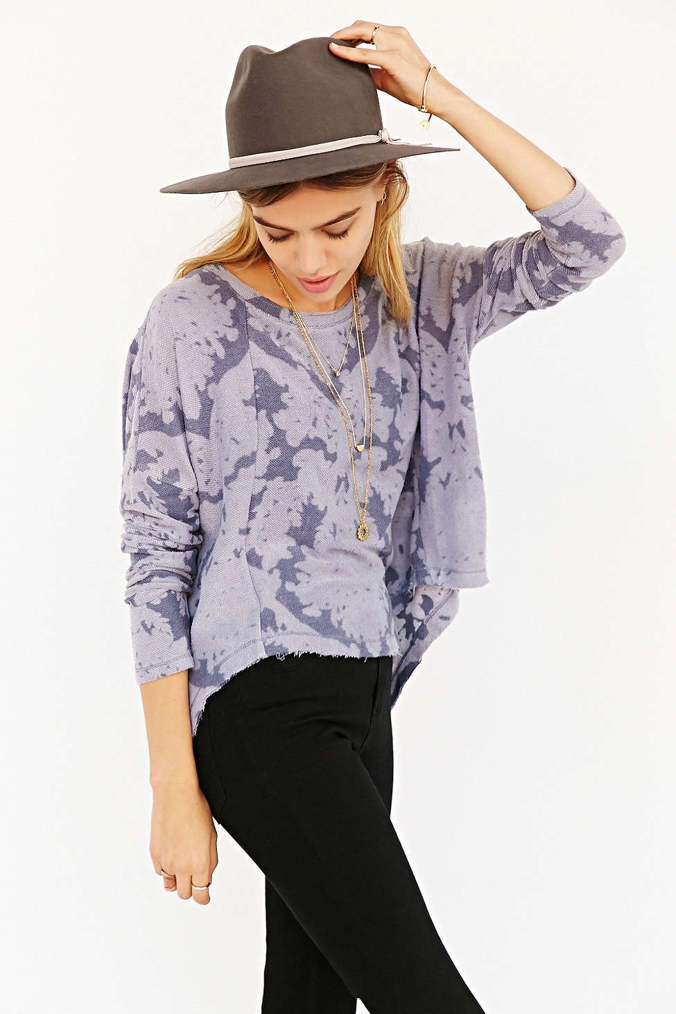 Pins And Needles Skinny-Sleeve Oversized Tee - Urban Outfitters