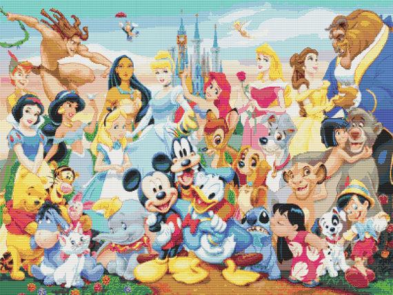 Disney Cross Stitch Pattern Disney by PopularCrossStitches on Etsy