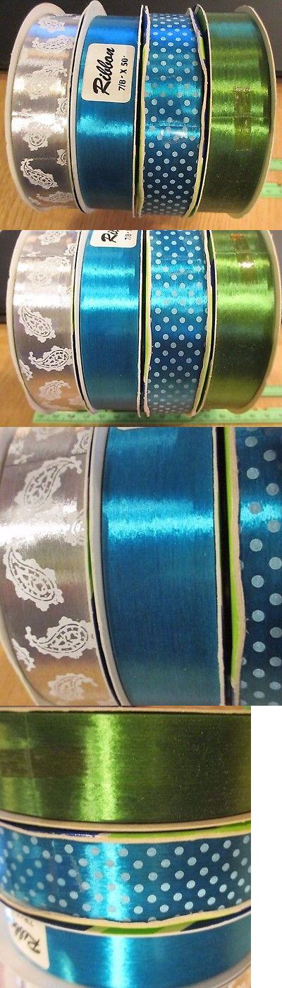 mini bows 31733 4 rolls vintage sasheen ribbon 1960 s silver w