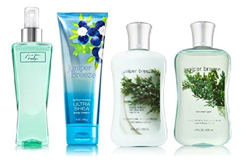 Bath And Body Works Juniper Breeze Deluxe Gift Set Body Cream Body