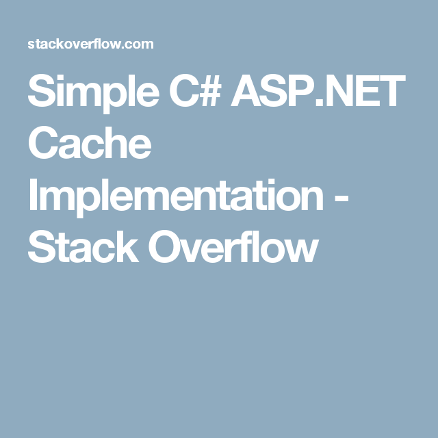Simple C Cache Implementation Stack Overflow