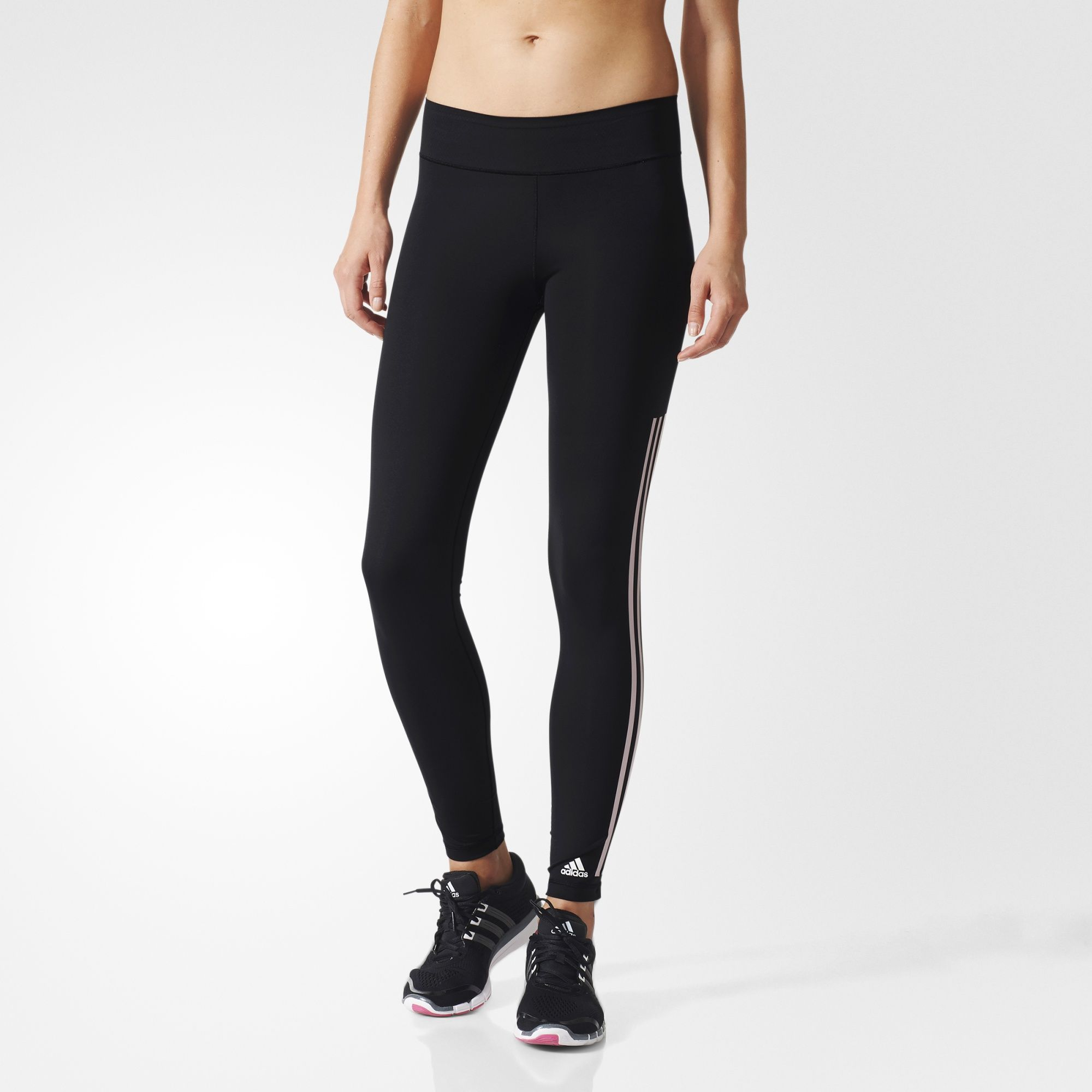 adidas - Długie legginsy Ultimate Fit 3-Stripes · Opaque TightsBlack TightsAdidas  WomenHealth FitnessRoutineStretchesThirdStripesTights
