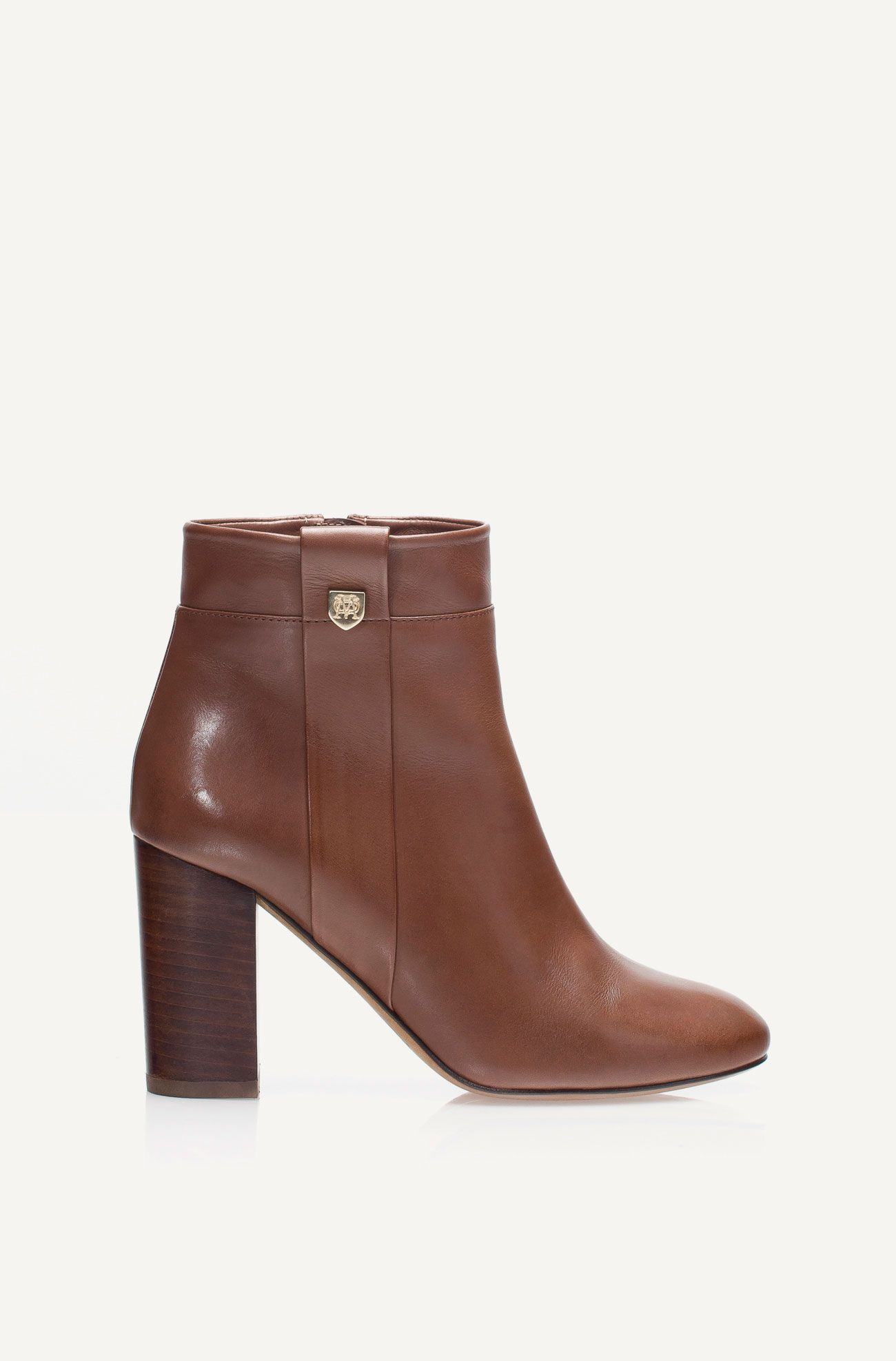 NAPPA LEATHER ANKLE BOOT