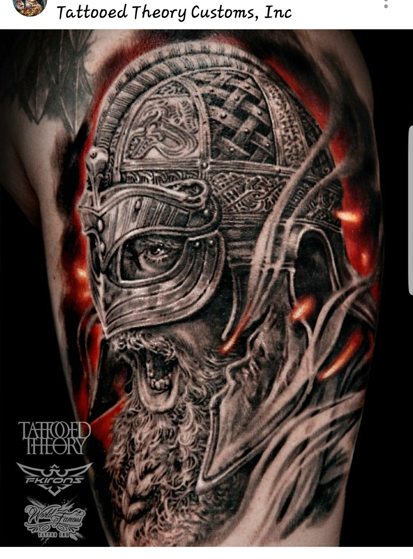 Norse/Viking warrior tattoo by @javi_tattooedtheory ...