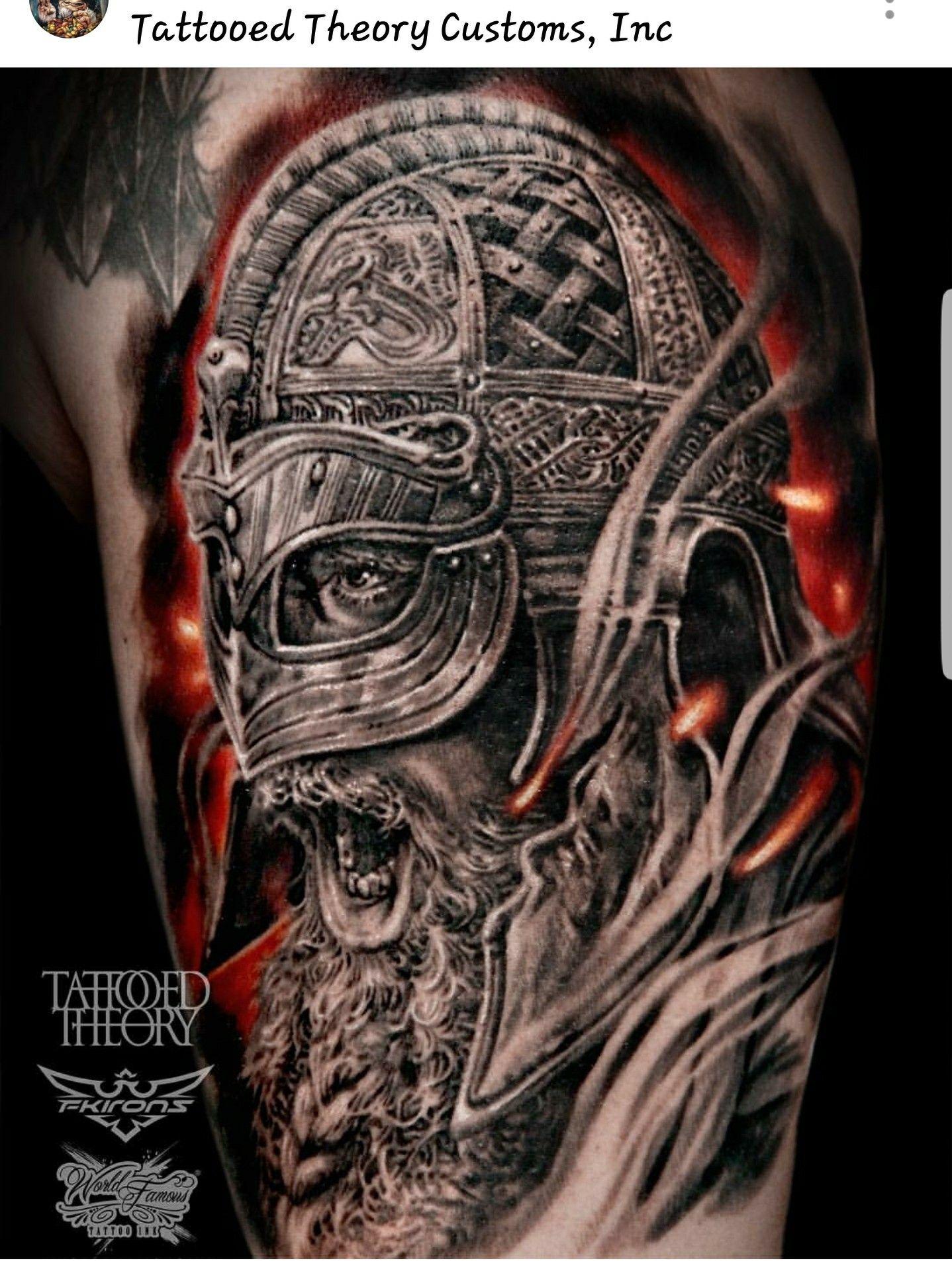 Norse/Viking warrior tattoo by javi_tattooedtheory