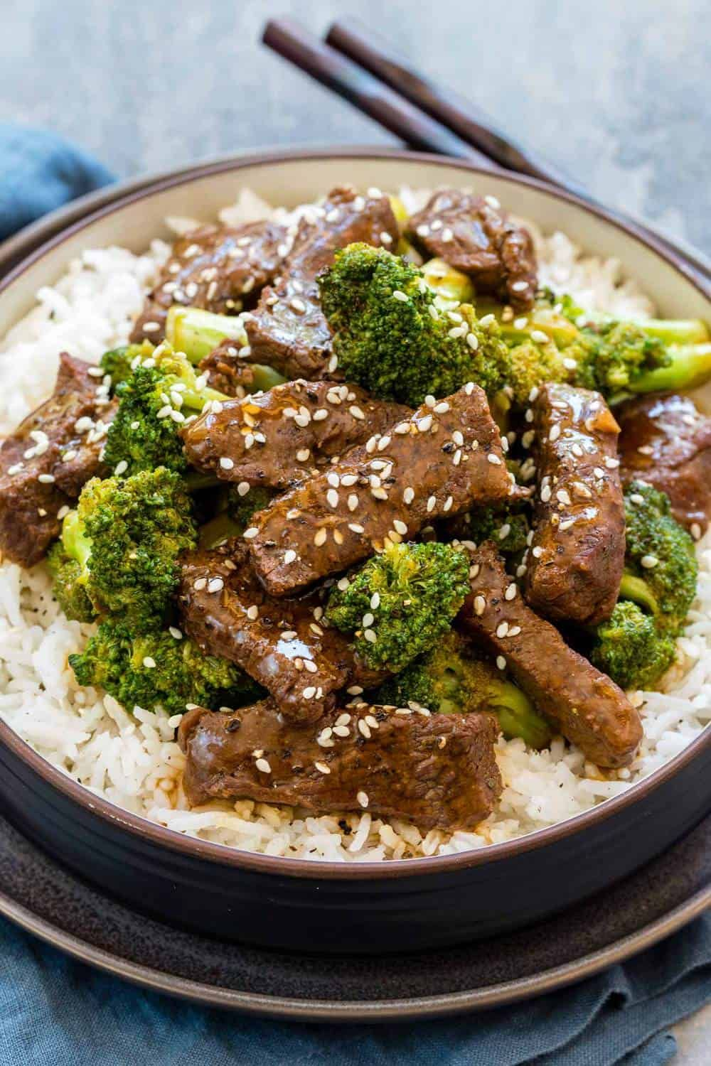 Instant Pot Beef And Broccoli Over A Bed Of Rice Beef Recipes Instant Pot Recipes Beef Stew Recipe