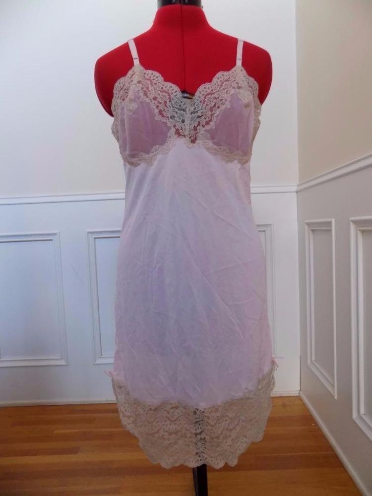 0c627f6267e BIG SALE going on now! Vintage 60s Soft Pink Full Slip Sheer Bust ...
