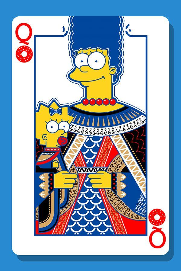 Pin by t w n t w n on my simpson in 2019 carte jouer cartes dessin - Bande dessinee simpson ...