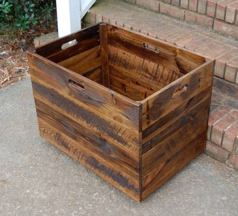 Tall Extra Large Wooden Crate Toy Chest Large Storage Box Office Decor Large Wooden Crates Large Toy Chest Wooden Crate