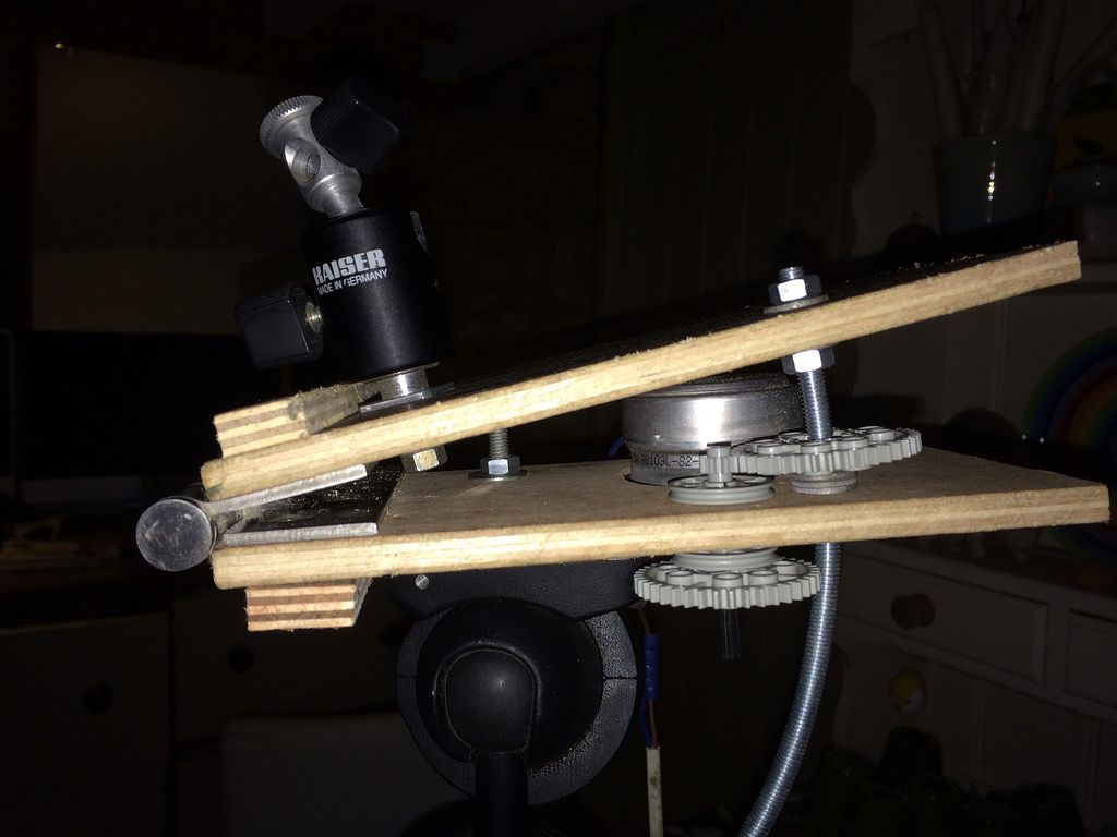 Toutes les tailles i built a little barn door tracker for Motorized barn door tracker