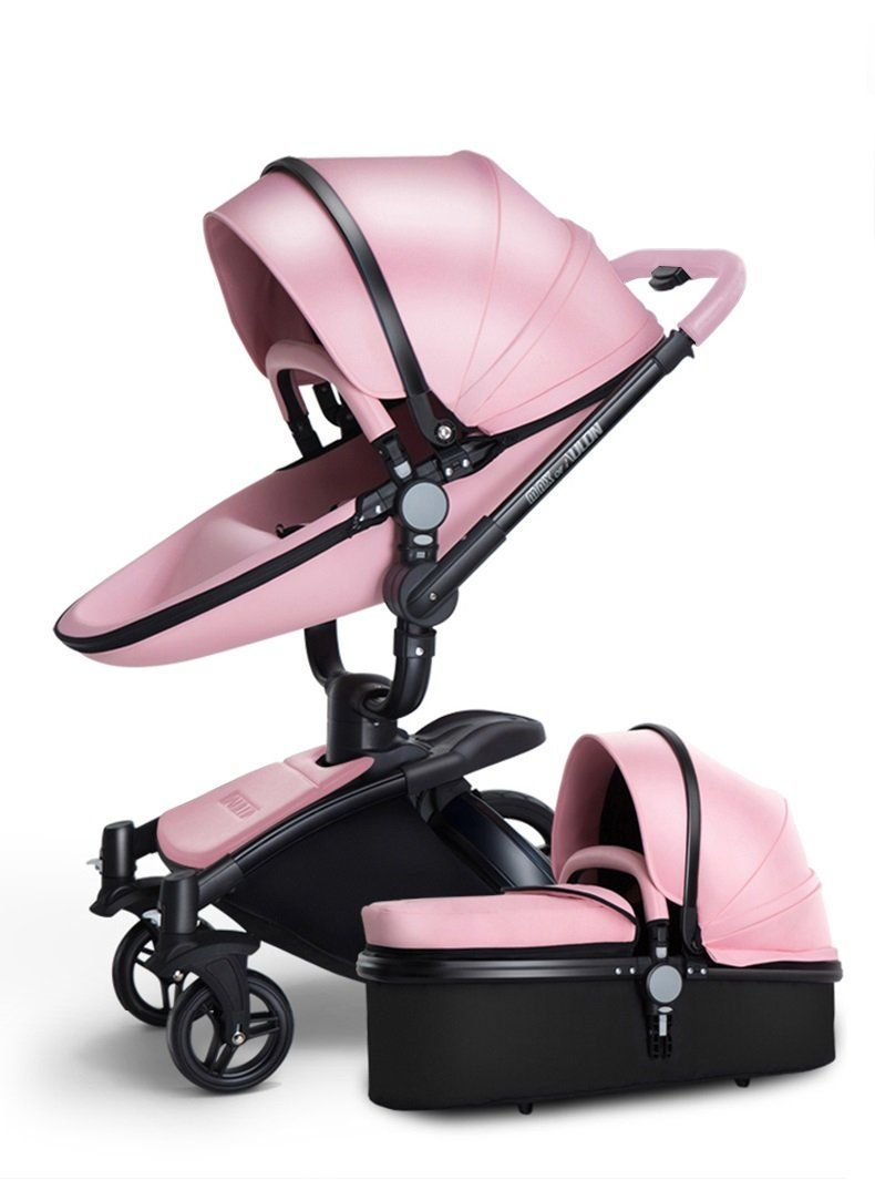 Luxury Leather Stroller 2 in 1 AULON Brand With