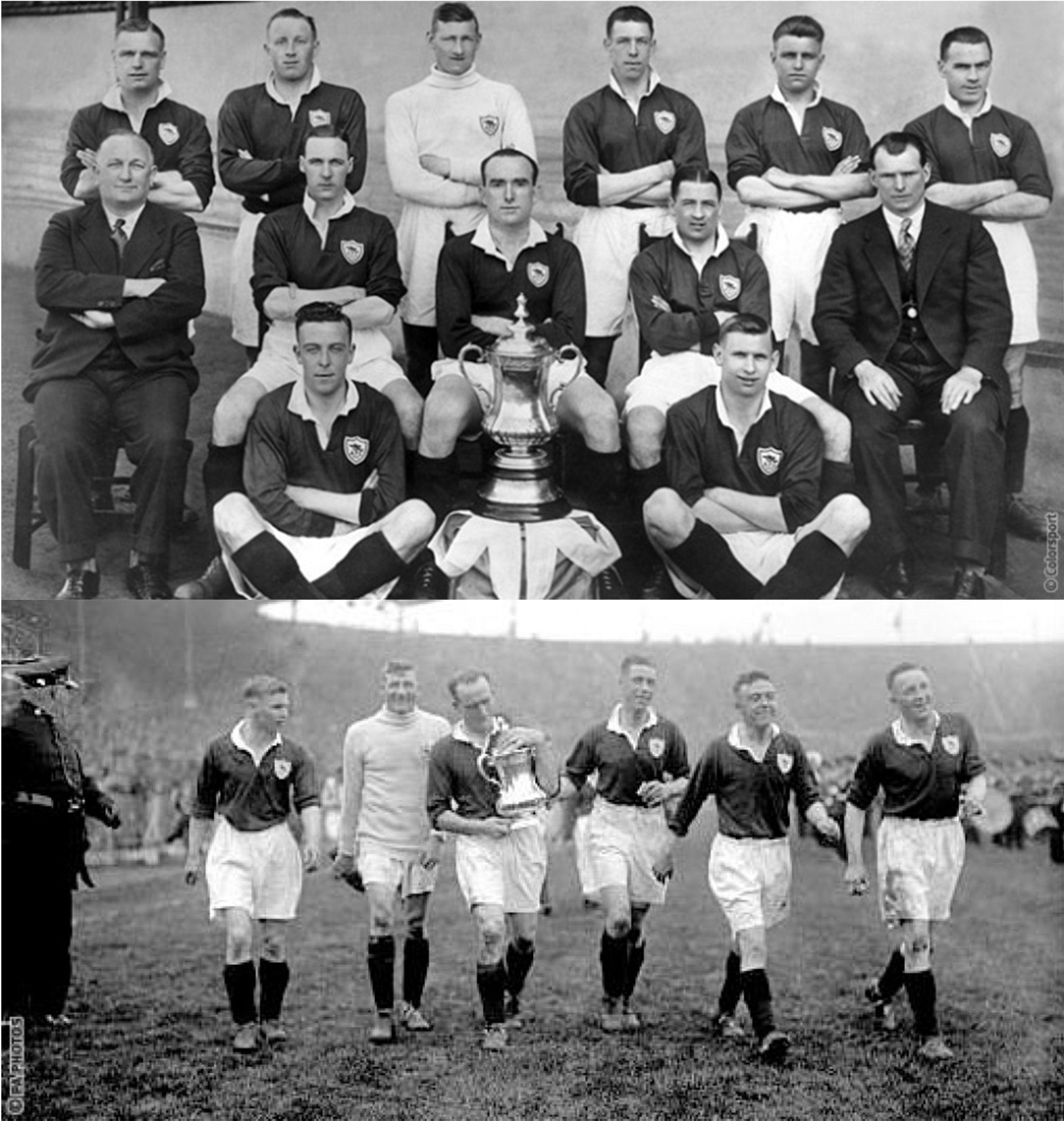 Nuestra primera FA Cup, disputada ante Huddersfield Town en el estadio de Wembley el 26 de abril de 1930 dejo vencedor al Arsenal por dos goles a cero, bajo la dirección técnica de Herbert Chapman.