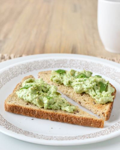 Breakfast Guacamole on Toast. Made with Greek yogurt for a morning protein blast | Cook the Story