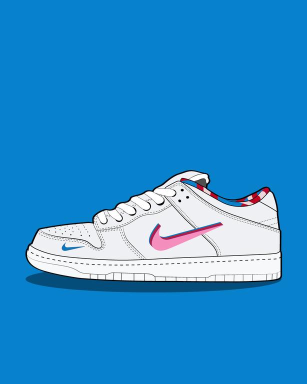 Nike Sb X Parra Dunk Low Drawing Sneakers Nike Drawing Sneakers Wallpaper Nike Sb