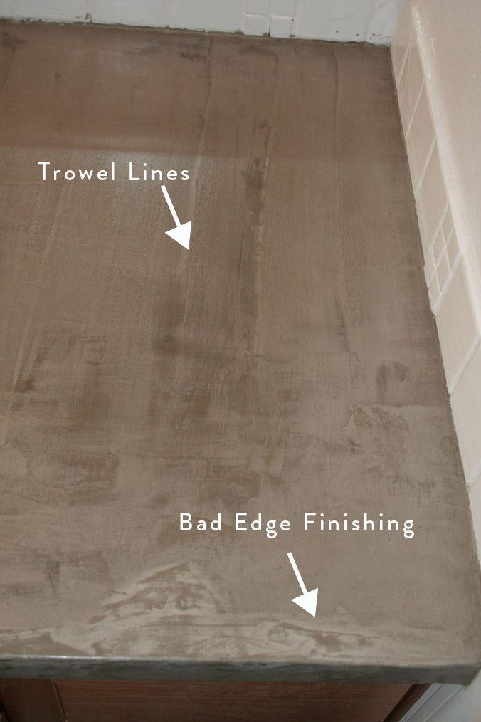 Simple Concrete Countertops Tutorial   Diy kitchen remodel ...