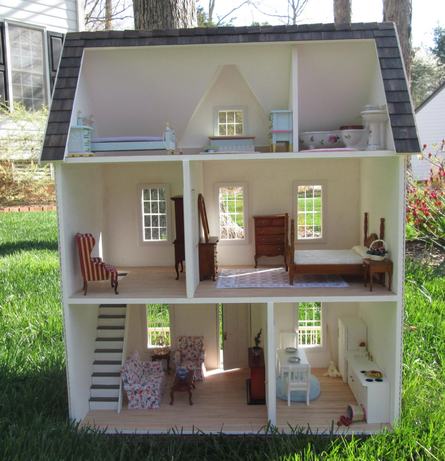 Real good toys vermont farmhouse jr by lilliputsminis on for Vermont farmhouse plans