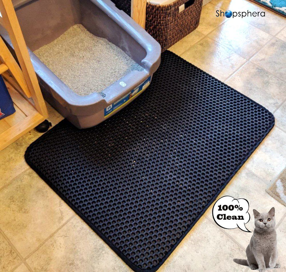 Large Cat Litter Mat For Litter Box 30a X23a Kitty Litter Mat With Waterproof Layer Design For The Best Scatter Control Cat Litter Mat Cat Litter Litter Mat