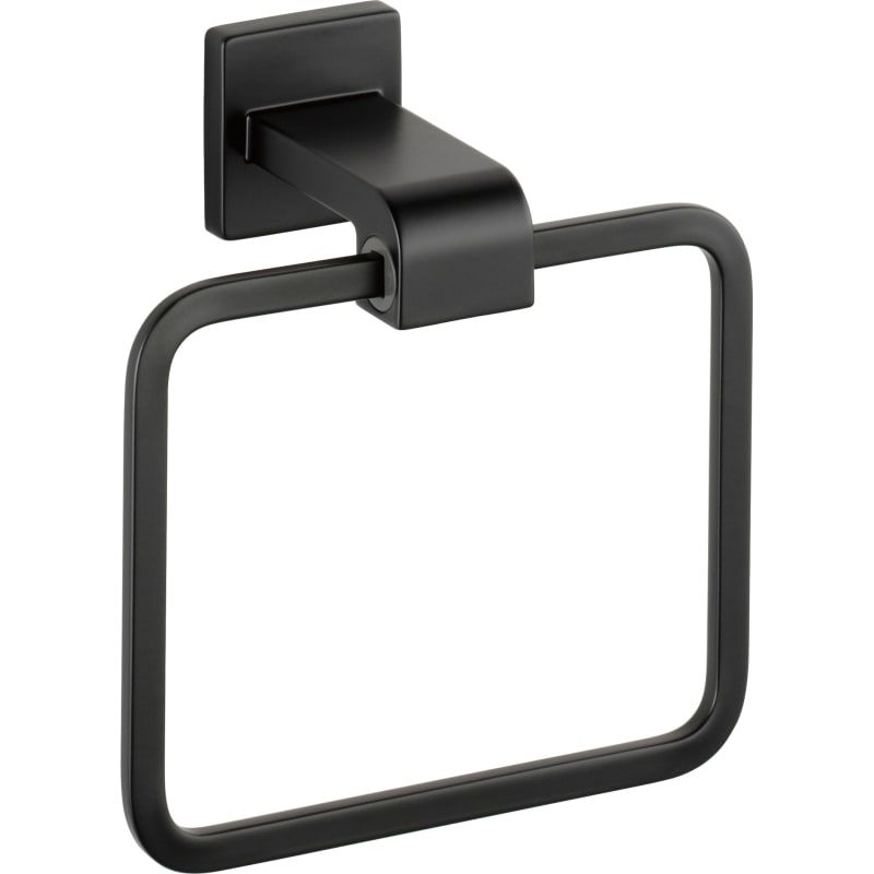 A Matte Black Kitchen Makes A Bold Statement In This: Towel Rings, Delta Faucets, Wall Mounted