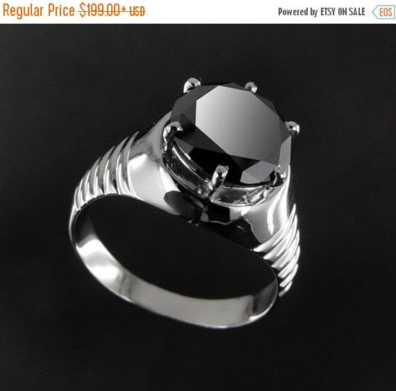 Christmas Sale AAA Quality 1ct to 5ct Black by PlutoJewels