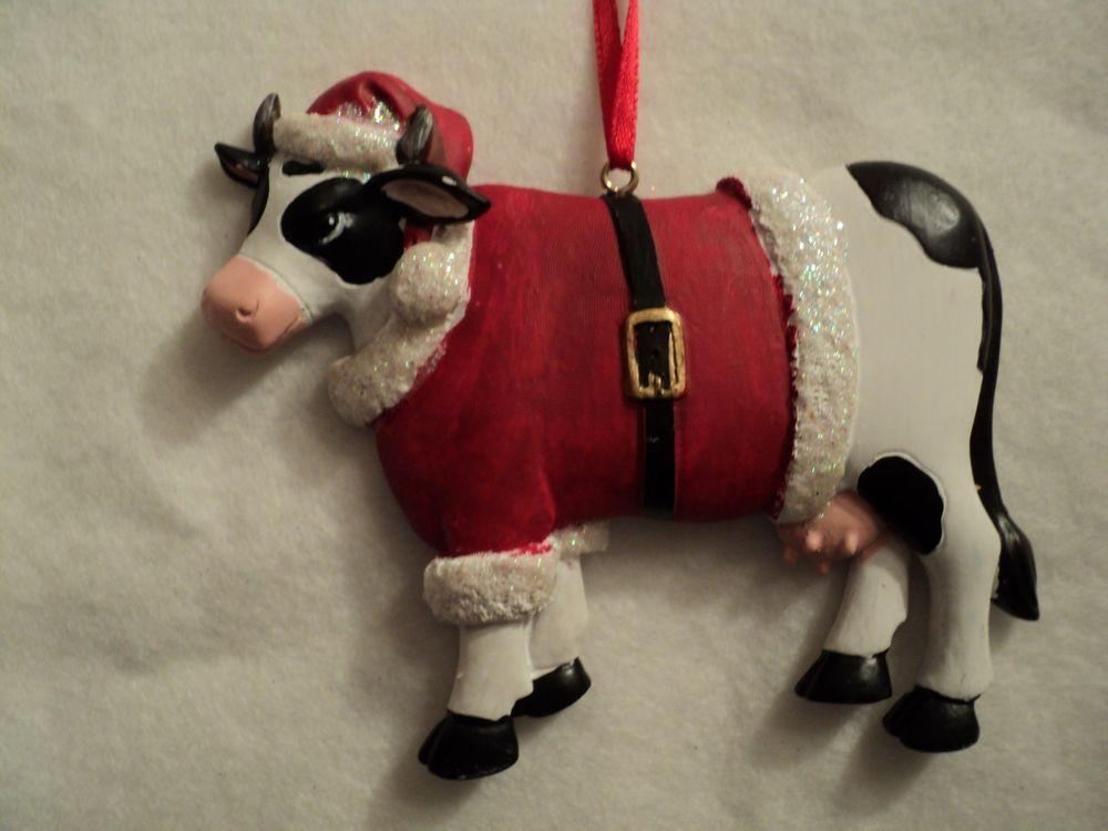 Ksa Quot Christmas Cow Santa Suit Quot New Very Cute