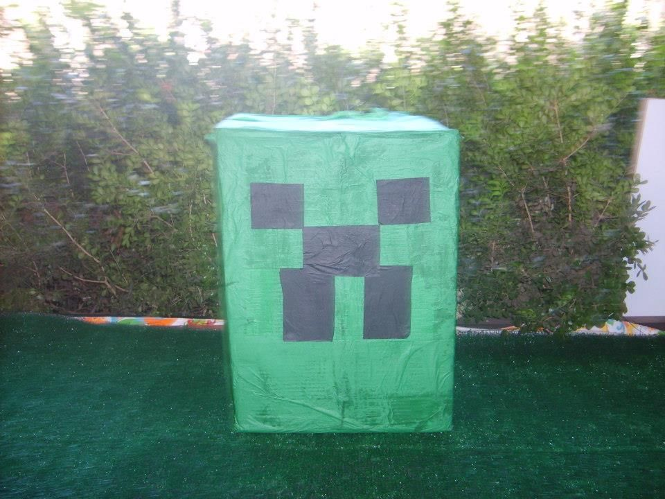 HOME made Pinata! large box, wrapped it around with wire from the ...