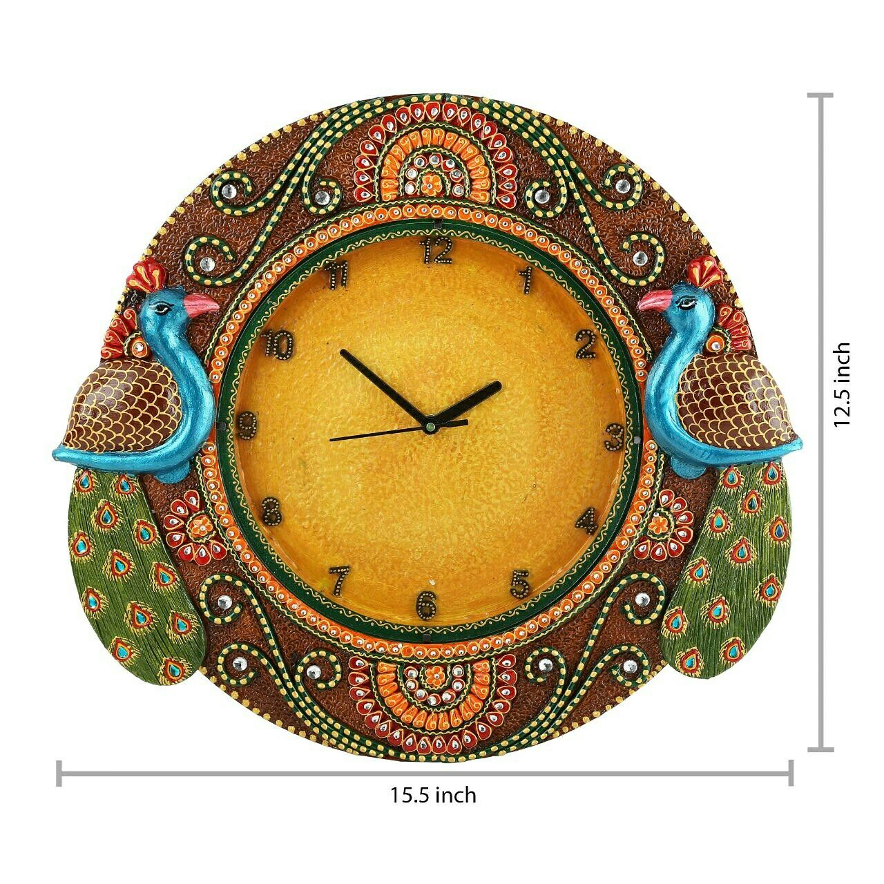 Traditional hand made paper mache wall clock | homedecor | Pinterest ...