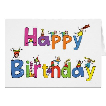 Greeting Card Crazy Kids Birthday Card Birthday Cards