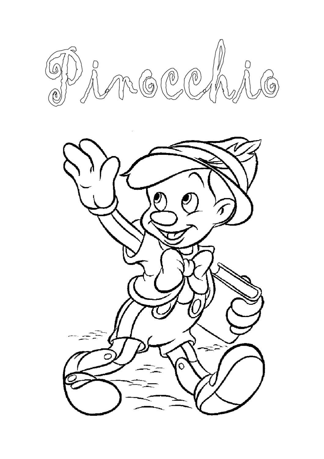 Pinocchio italiano pinocchio disney coloring pages e for Grammatica inglese di base da stampare