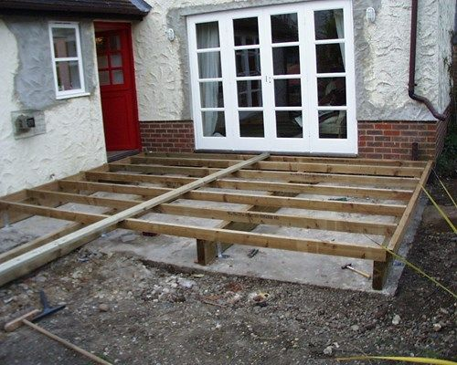 Subframe Over Existing Patio With Images Building A