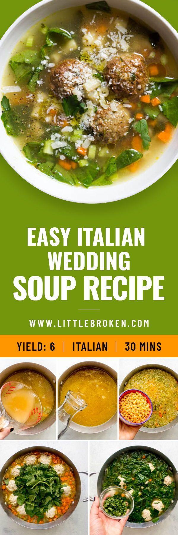 Easy Italian Wedding Soup In 2020