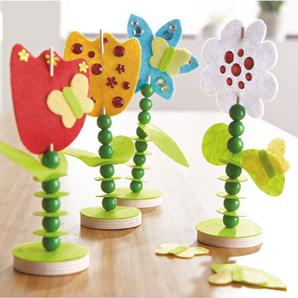Bastelbedarf Kinder Sachenmacher Filzstecker Blumen Blumen Crafts For Kids