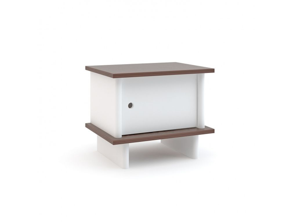 Beau Oeuf NYC Bedside Table Merlin Night Stand   Walnut