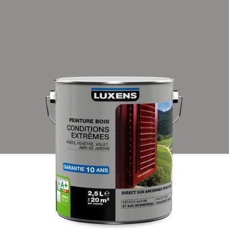 Peinture Bois Exterieur Conditions Extremes Luxens Gris Galet N 3 2 5 L Peinture Bois Exterieur Peinture Sur Bois Peinture Pour Volets