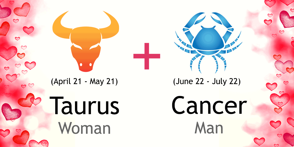 taurus woman and cancer man in love