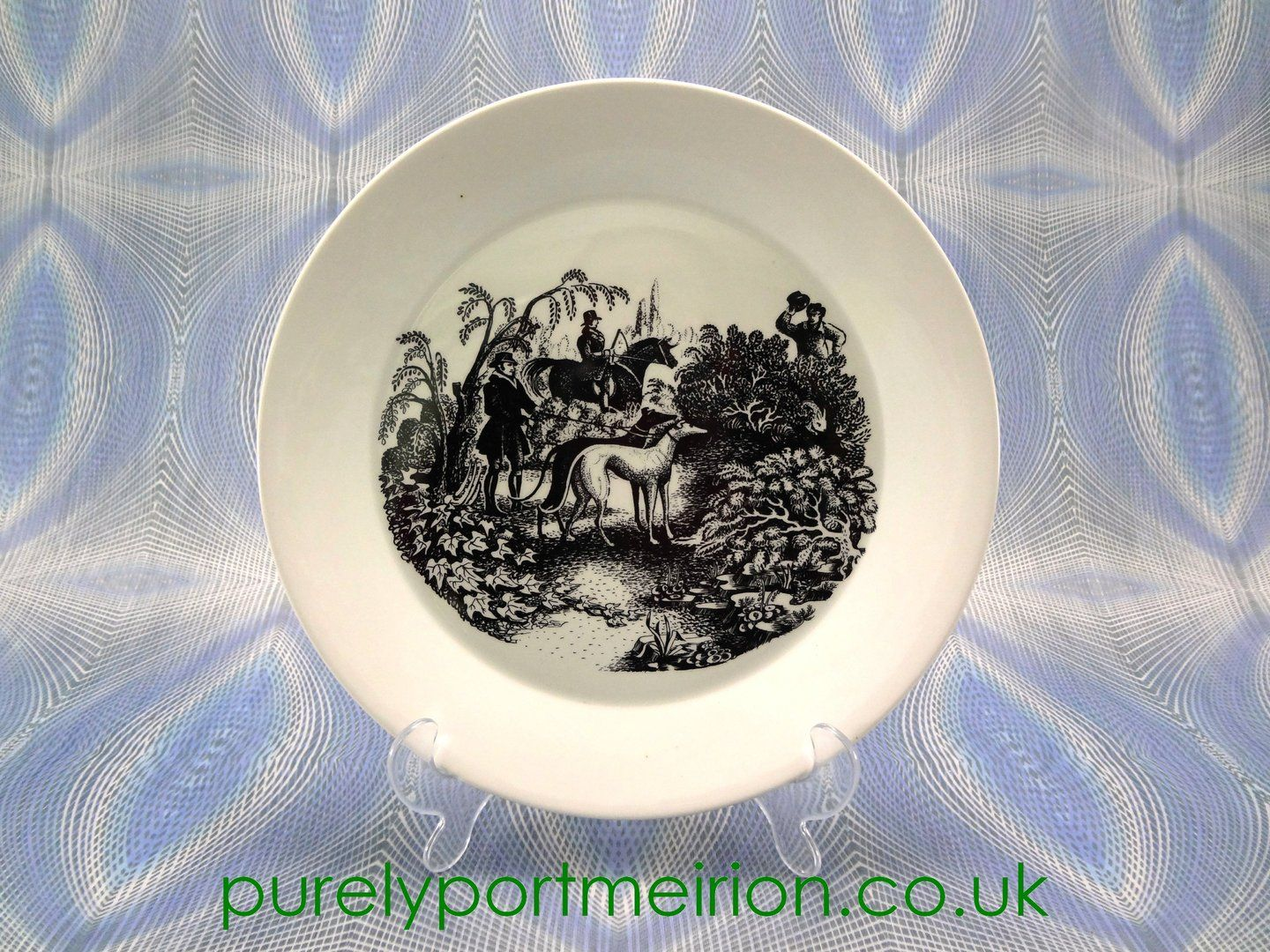 A Vintage Portmeirion Dinner Plate In White In The Sporting Scenes Design. Buy From Purely Portmeirion. & Portmeirion Sporting Scenes 10 Inch Dinner Plate | Portmeirion ...