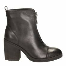 Black Leather Clementine Ice Boots Heel 8cm