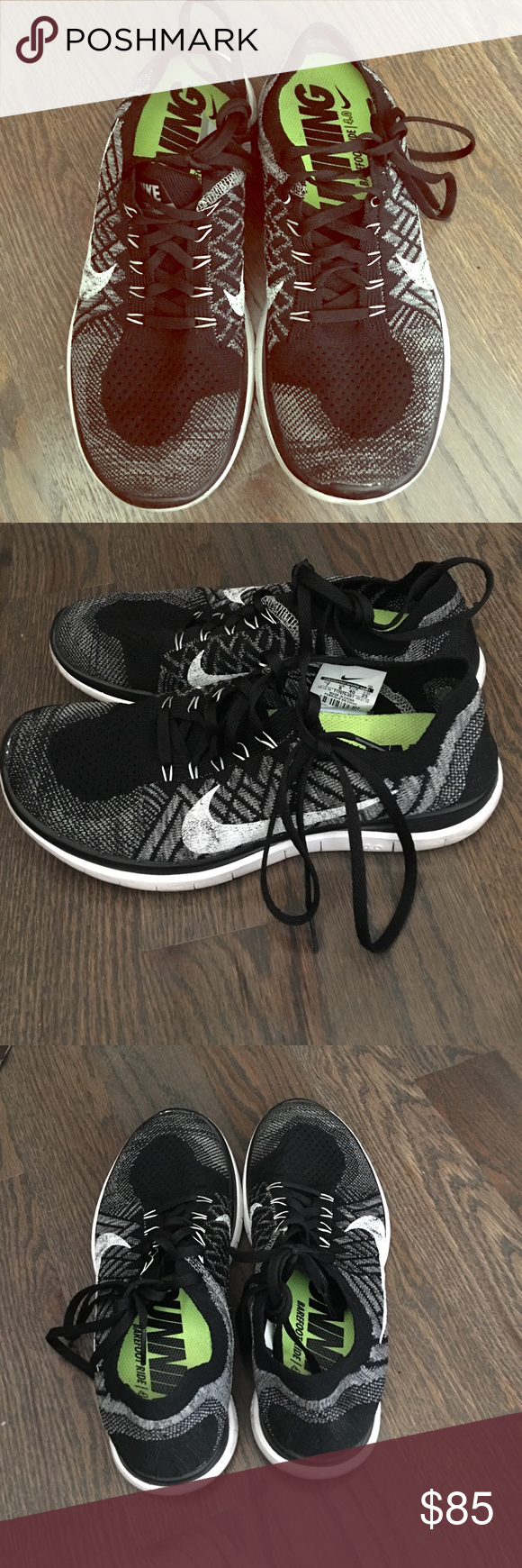 Oreo colored Nike Flyknit! Too large for me! Great condition! Nike Shoes Sneakers