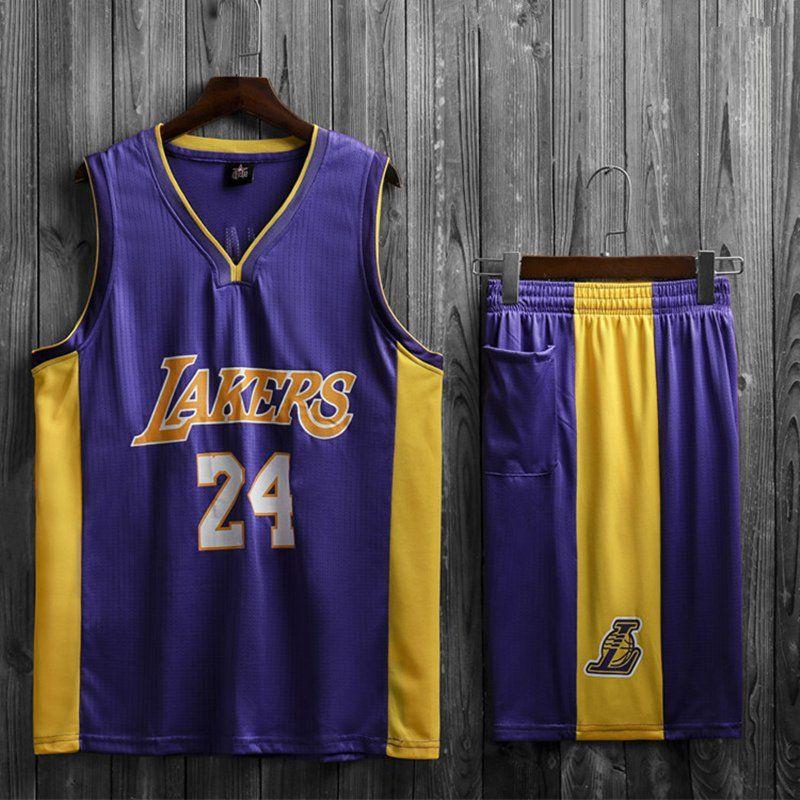 Purple+Lakers+Mamba+Basketball+Jersey+Kobe+Bryant+LA