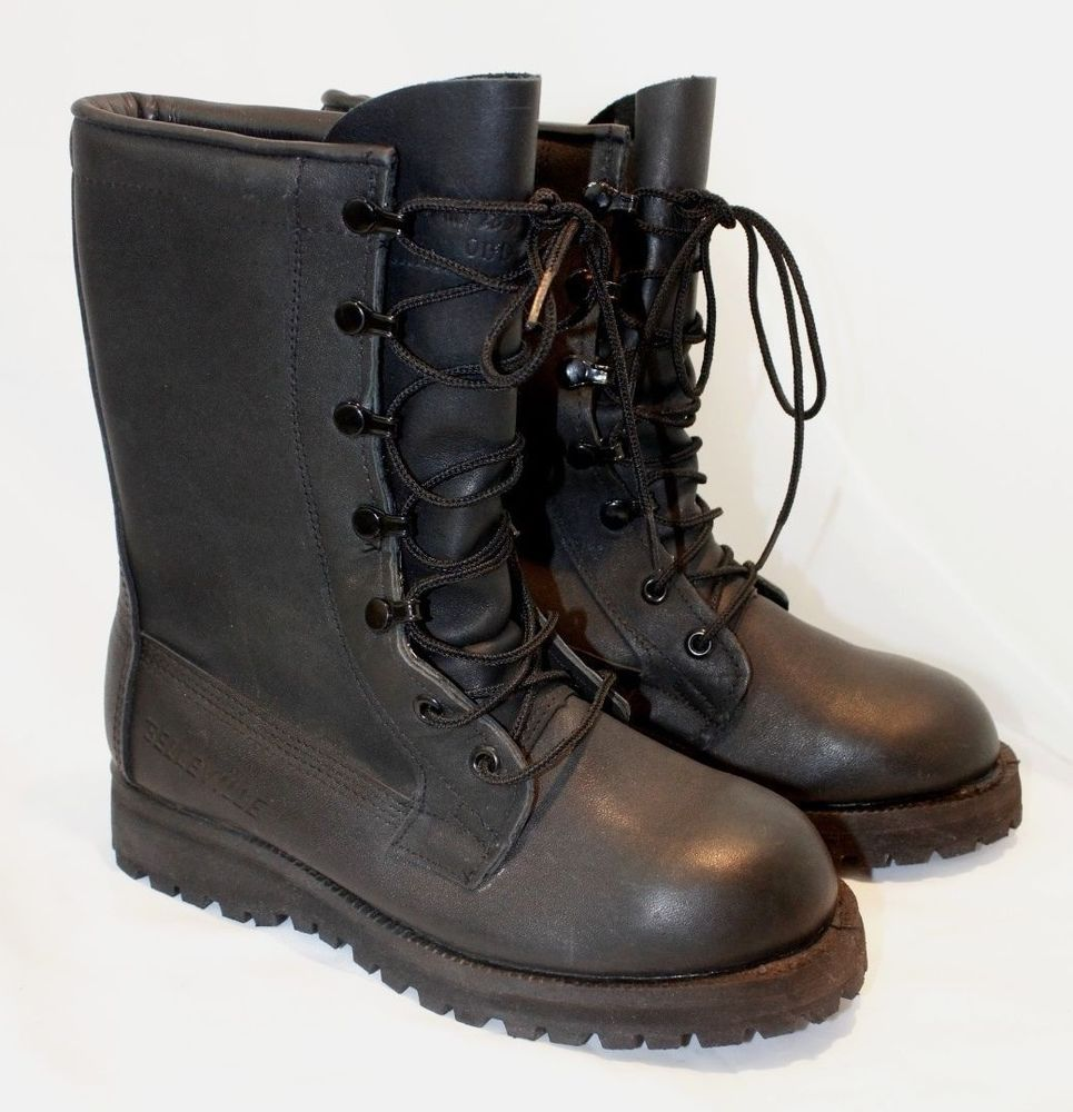 27bfb71881a Belleville gore tex black leather lined tactical combat boots sz 3.5 ...