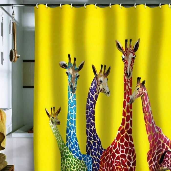 Cool Unique And Colorful Shower Curtains Funky Shower