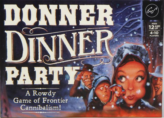 Donner Dinner Party Is A Rowdy Game Of Frontier Cannibalism Who S Safe When There Are Cannibals Hiding Among You That S The Q Dinner Party Party Donner Party