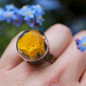 Real Flower Ring RubyRobinBoutique on etsy