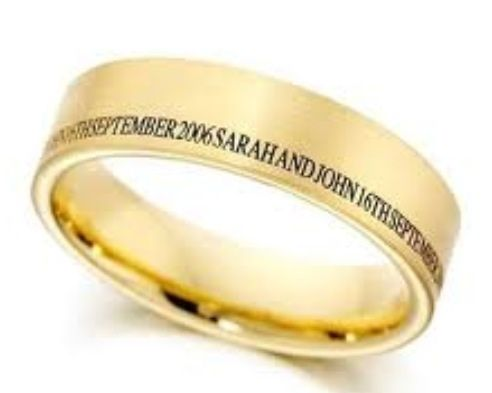 Men S Wedding Band Engraving Outside Of Ring